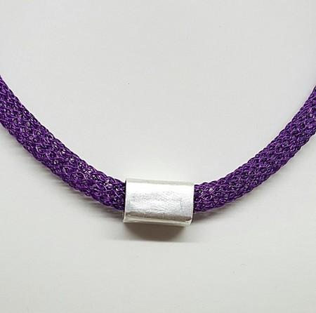 Purple/Silver slider necklace