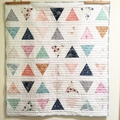 baby quilt - baby shower gift - baby present - girl quilt - pink quilt - modern