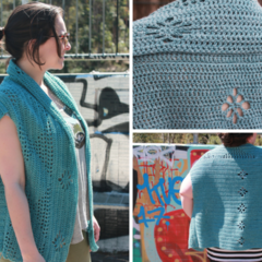 Crochet Pattern (only) Sleeveless Cardigan