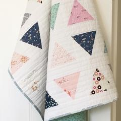 baby quilt - baby shower gift - baby present - girl quilt - pink quilt - modern