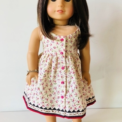 Spring Picnic Dress - 18 inch American Girl Doll Clothes Clothing