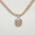 Rose Gold  and Sterling Silver Necklace