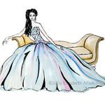 Fashion Illustration 5 x 7 Art Print A5 Wall Art Home Feminine Decor