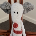 Maurice the house mouse:  OOAK, washable, crochet toy