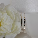 Freshwater Pearl and Moonstone Drop Earrings - Gold Filled