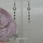 Sterling Silver Pearl and Moonstone Drop Earrings