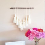 Cream Tassel Wall Hanging