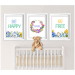 Be Happy Be Free Personalised Printables