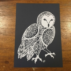 """Floral Owl"" - Paper Cut Art"