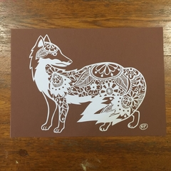 """Floral Fox"" - Paper Cut Art"