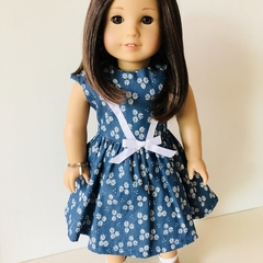 Daisy Blue Dress - 18 inch American Girl Doll Clothes Clothing