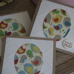 3 Little Bird Notecards ~ Kraft Cards ~ Mini Eco Cards ~ Ready to Post