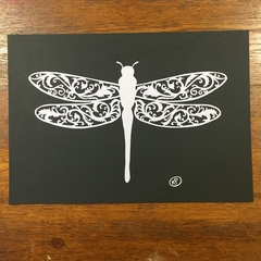 """Filagree Dragonfly"" - Paper Cut Art"