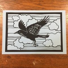 *Raven* - Paper Cut Art