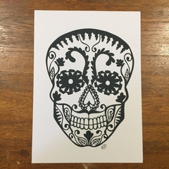 """Black Sugar Skull"" - Paper Cut Art Halloween"