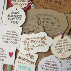 22 Baked Goods Gift Tags ~ Tags for Homemade Biscuits ~ Christmas in July