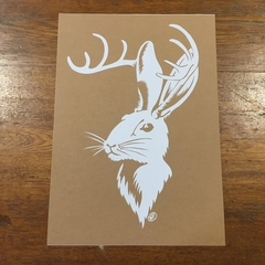 Jackalope - Paper Cut Art