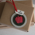 5 Keepsake Christmas Gift Tags ~ Christmas Tree Decorations ~ Keepsake Gift Tags