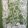 "*Made To Order*. Custom ""Wedding"" - PaperCut Art"