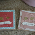 2 mini celebrate cards ~ Tea Cup Cards ~ Birthday Cards ~ Ready to Post