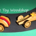 Handcrafted Wooden Toy - Mini Racing Car