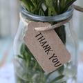 30 Thank You Tags ~ Eco Kraft Tags ~ Rustic Thank You Tags ~ Kraft Gift Tags