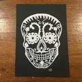"""White Sugar Skull"" - Paper Cut Art Halloween"