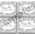 Personalized Color in First Name Page - Custom Fairy Name Print - Coloring Page