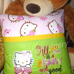 """""""Pink Kitty"""" Reading/Pocket Cushion  (cover only)"""