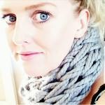 Chunky Knit Light Grey Adults Infinity Scarf