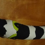 Single Fabric Snake -Beetlejuice Boa