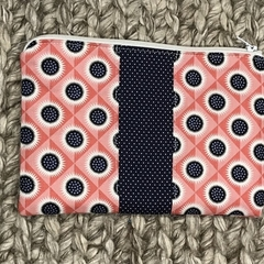 Red and navy purse