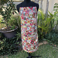 Apron - Floral -  Maroon and Gold Tone - Limited Edition