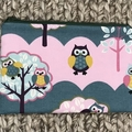 Pink and blue owls pencil case