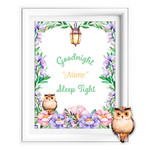 Goodnight Sleep Tight Personalised Printable