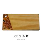 Antique Gold, Emerald Green & White Resin Radiata Pine Board