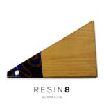 Royal Blue, Royal Purple & Antique Gold Resin Radiata Pine Board