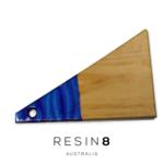 Aquamarine Blue & Bright Purple Resin Radiata Pine Board