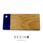 Bright Purple, Teal Blue, & White Resin Radiata Pine Board