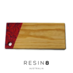 Bright Pink & Royal Blue Resin Radiata Pine Board