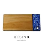 Royal Blue & Pearl White Resin Radiata Pine Board