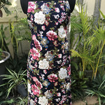 Floral Apron - Navy and Pink Flowers - Limited Edition