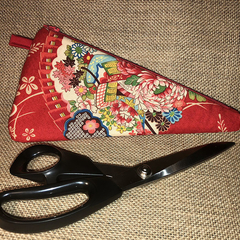 Scissor Cozy - Kimono Fan Red - Large/Small