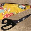 Scissor Cozy - Kimono Fan Mustard - Large/Small