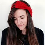 Red Bow Headband