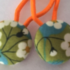 23mm Liberty fabric button hairties