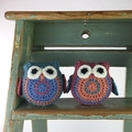 Owl Softies | Pair | Gift Idea | Wool | Bamboo |  Hand Crocheted | Ready to Post