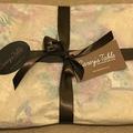 GIFT SETS: Placemats  Kimono Fan Black &  Dinner Napkins in Lagoon.