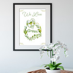 We Love Green Heart Printable