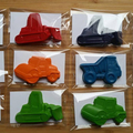 Construction truck shaped crayons - Party Favours - Party Bags - 12 packs - Read